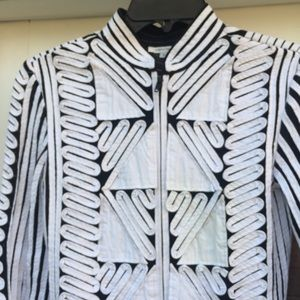 ❤️ANDREA ROSATI White & Black Ribbon Jacket